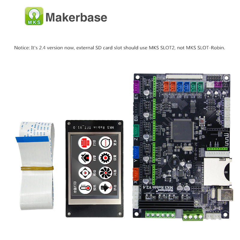 Carte mère de contrôleur de Robin de carte mère de circuit intégré de MAKERBASE STM32 MKS Robin avec le logiciel de source fermée d'affichage de TFT - 2
