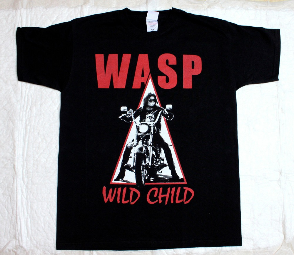 Summer 2018 New W A S P Wild Child85 Heavy Metal Band Wasp Twisted Sister New Black T Shirt Summer Style T Shirt