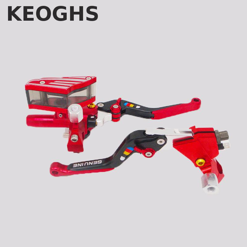 Keoghs Motorcycle Brake Master Cylinder And Clutch Lever 22mm Universal 12.7mm Piston For Honda Yamaha Kawasaki Suzuki Scooter