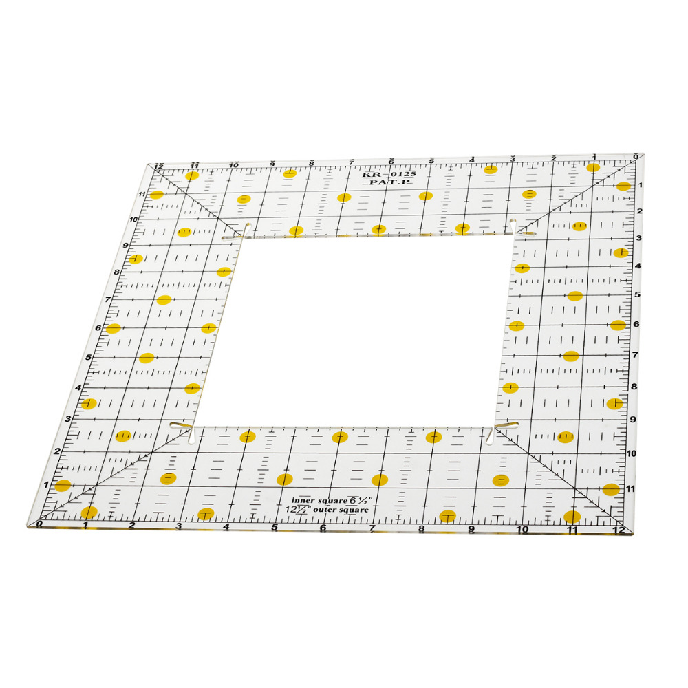 1pcs Square Patchwork Ruler Acrylic Sewing Quilting Ruler Templates