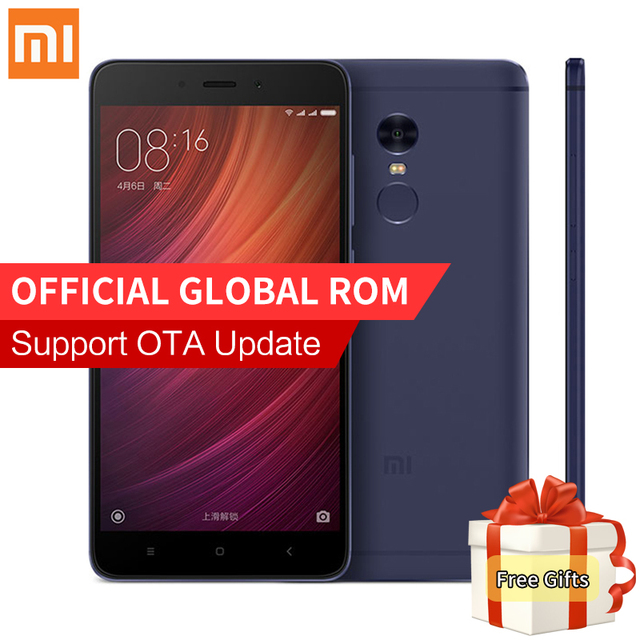 "Original Xiaomi Redmi Note 4 Pro 3GB RAM 64GB ROM Smartphone MTK Helio X20 Deca Core 5.5"" FHD 13.0MP Camera 4100mAh Fingerprint"