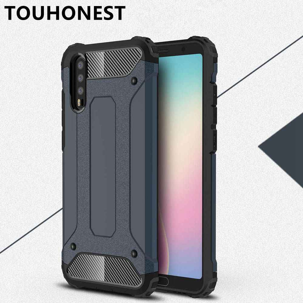 new concept 339e3 1ad61 For Huawei P20 lite Case fundas Hard Rugged Case For Huawei P20 Pro coque  Hybrid Armor Phone Cover Double Protect 2 in 1 Nova 3E