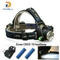 Portable zoom headlamp CREE XML T6 Rechargeable Headlights 4 mode Head Lamp LED Head light Flashlight Lantern 2 X18650