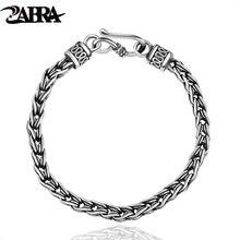 Навыки и старых мужской серебряный браслет с круглый goldsmith тайский серебряной тесьмой 925 серебряный браслет цепи Для мужчин и женщины могут носить