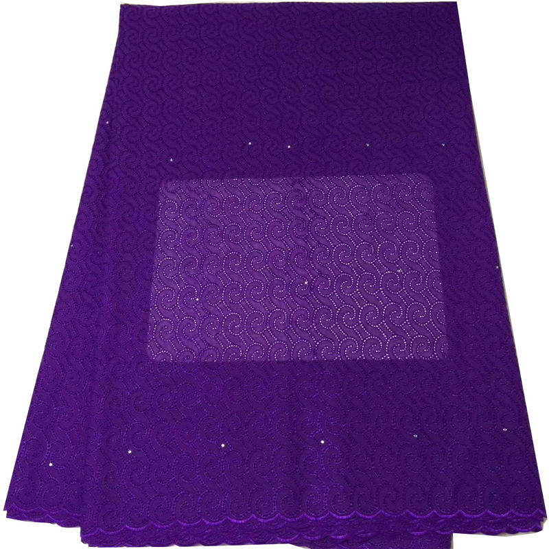 Free shipping (5yards/pc) latest arrival soft African cotton lace fabric purple Swiss lace fabric for making party dress CLS178Free shipping (5yards/pc) latest arrival soft African cotton lace fabric purple Swiss lace fabric for making party dress CLS178