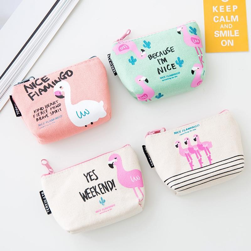 2018 New Women Flamingo Strawberry Pattern Coin Purse Zip Bag child girls boys Mini Wallet PU Leather Portable Handbag все цены