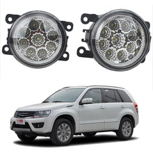 For Suzuki Grand Vitara 2 JT 2005 2006 2007 2008 2009 2010 2011-2015 Car styling CCC E2 3000-1WK LED Fog Lamps DRL Lights 1set 1set car styling fog lights halogen lamps 26150 8990b for nissan juke 2010 2015