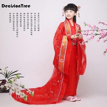 2019 new ancient chinese costume chinese traditional opera kids dynasty ming tang han hanfu dress child costume folk dance child