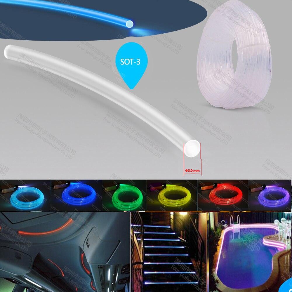 kilang 3mm sisi glow cahaya gentian optik gentian optik plastik untuk Hiasan hiasan rumah hiasan