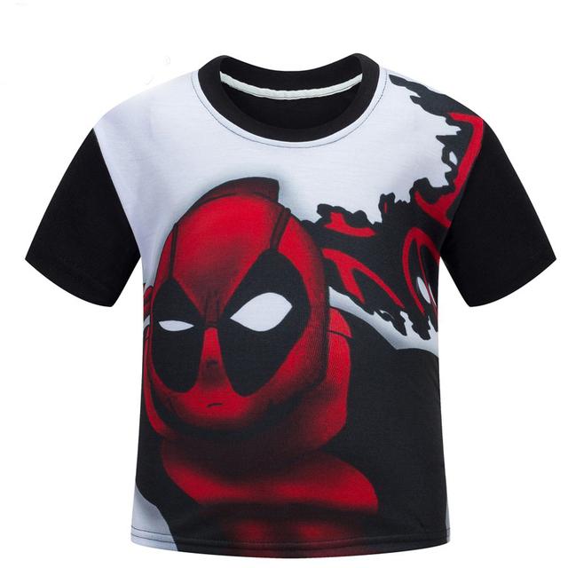Deadpool niños de dibujos animados manga corta camiseta niños y niñas de algodón de verano T-shirt