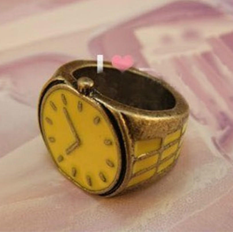 European And American Foreign Trade Retro Candy Color Small Ring Stainless Steel Ring Rings For Women Men Ring