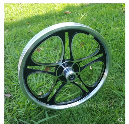 16 inch 20 inch bicycle   20 inch Bicycle Wheel Set Integrated Ring Folding Car Child Car Aluminum Alloy Wheel Hub Disc Brake Bicycle Wheel     - title=