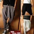 New 2016 fashion men elastic waistline design comfortable Beam foot trousers /Men's casual pants Haroun pants/Baggy pants
