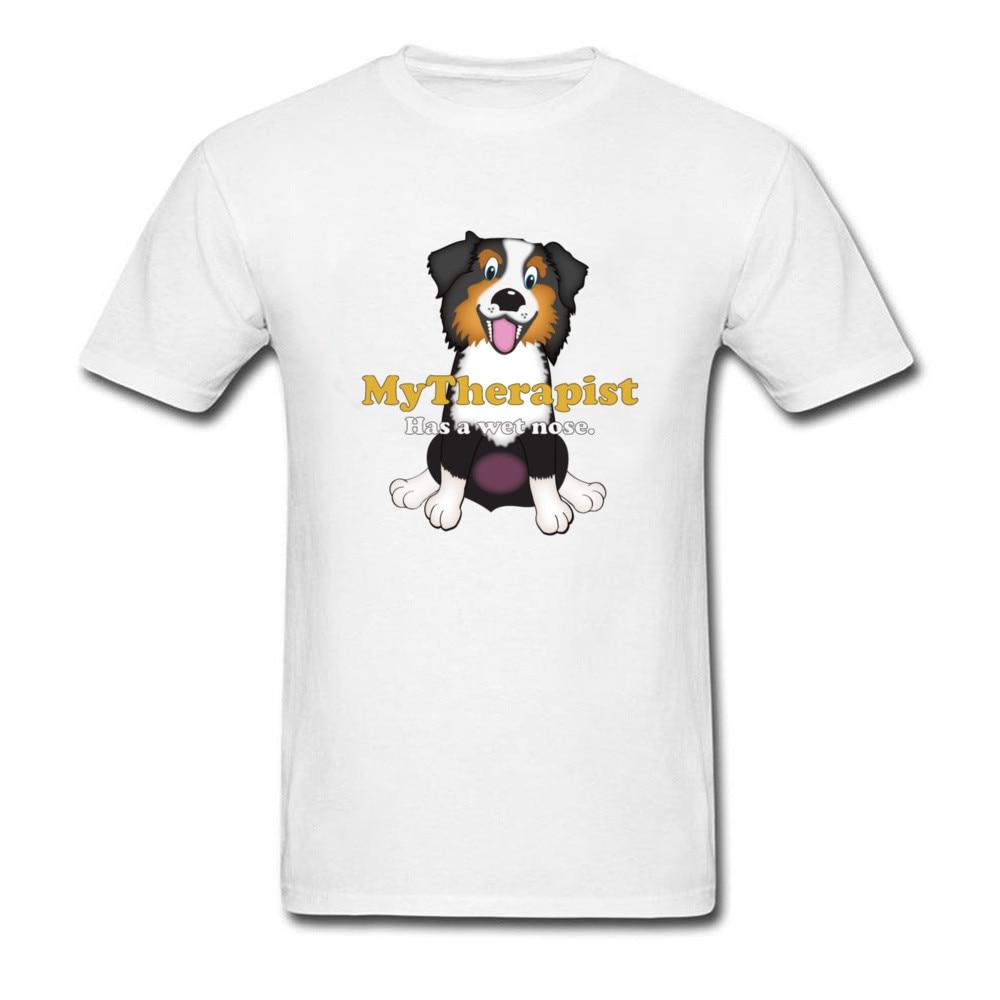 Горячая 2018 Летняя мода мой терапевт имеет Мокрый нос Для мужчин заказной мультфильм футболка собачников весело милые дизайнерские