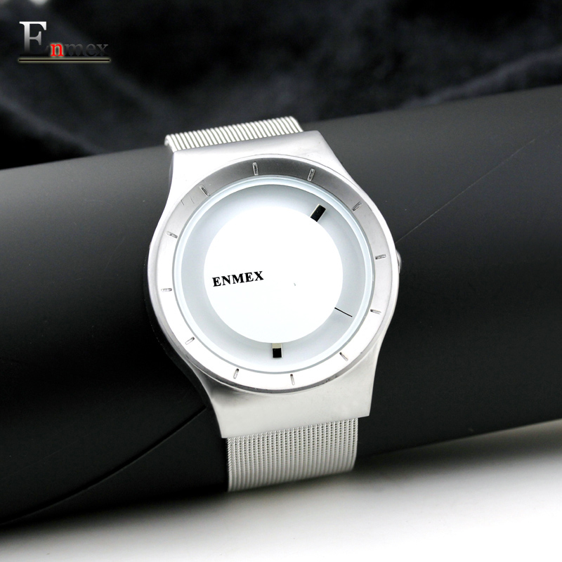 2017 gift Enmex The beauty of abstract design wristwatch creative dial stainless steel simple fashion for young peoples watches 2017 lady gift enmex abstract patterns elegant temperam with simple unique design for young women fashion quartz watches