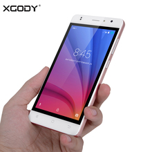 XGODY 5.0 Inch 4G LTE Smartphone Android 6.0 MTK6737 Quad Core 1GB RAM 16GB ROM 8MP X200 Pro Dual SIM Mobile Cell Phones Telefon