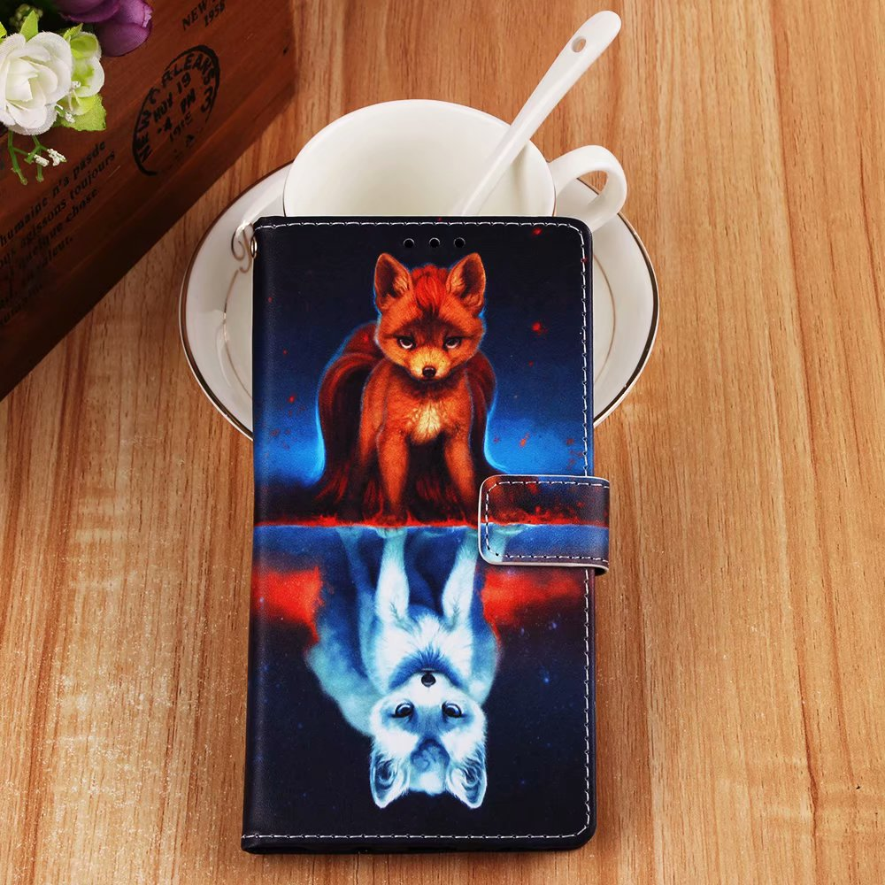 A7 2018 Leather Phone Case For Samsung Galaxy A7 2018 3D Embossed Panda Retro Wallet Cover For Samsung A750F Coque