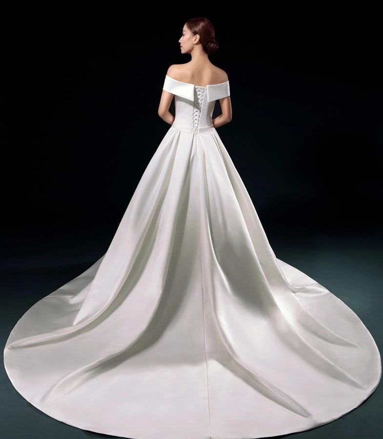 5a3526c079 Elegant white Satin Wedding Dress 2016 Long Vestidos De Novia Baratos Cheap  Simple Bride Gown Dress-in Wedding Dresses from Weddings   Events on ...
