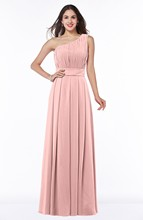 Cheap Plus size bridesmaid dress with one shoulder Party dresses pleated