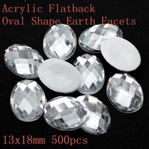 El envío libre de Acrílico flatback oval shape tierra facetas muchos tamaños de cristal acrílico del color rhinestone pegamento en cuentas de BRICOLAJE decorar