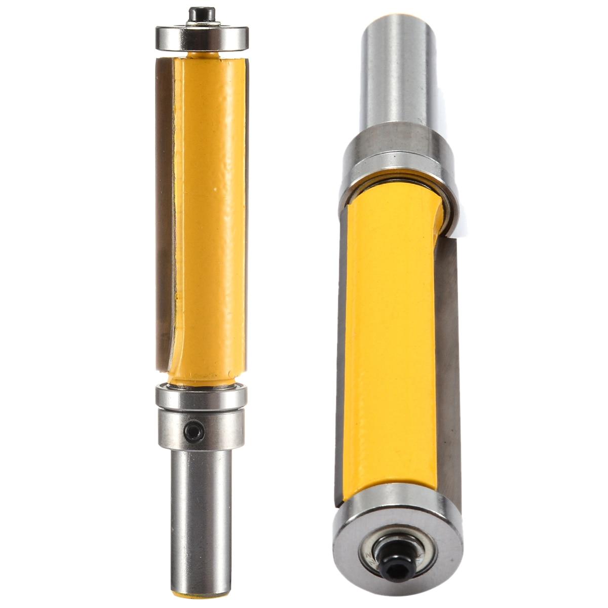 1/2'' Shank Pattern/Flush Trim Router Bit 2-1/2 Cutter Top&Bottom Bearing Cutter Tool