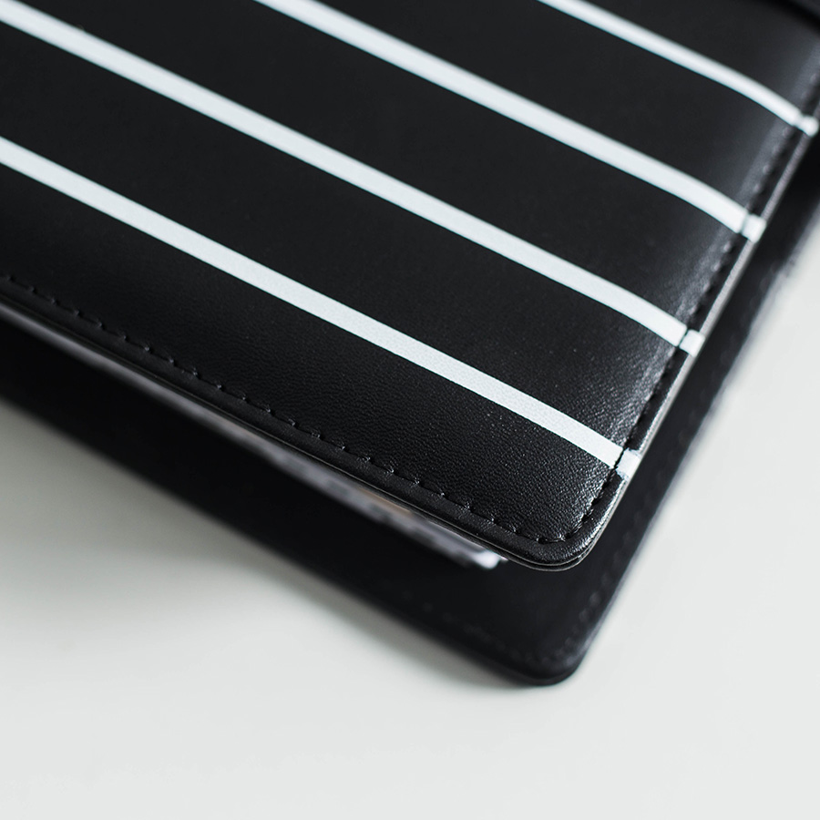 Dokibook Black  Pu Leather Cover Notebook Traveler Notebook Journal Daily Planner Organizer A5 A6 Spiral Planner Stationery