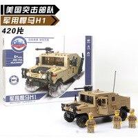 Children S Intelligence Building Blocks Toy Military Series Hummer Assembly Model Fun Children Building Blocks Toys