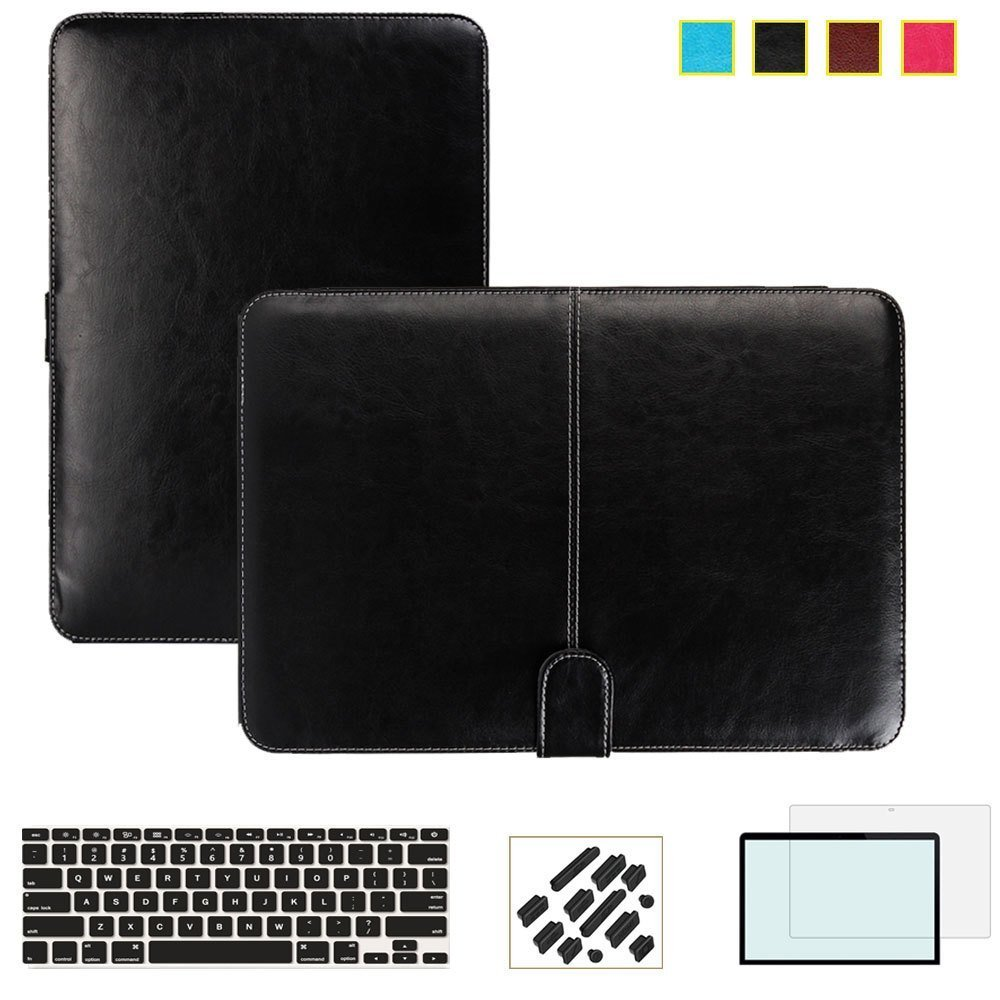 RYGOU Business Smart Holster PU Copertă de caz din piele pentru Apple Macbook Air Pro Retina 11 12 13 15 inch Full Shell de protecție