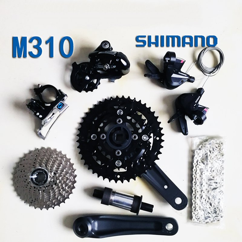 Shimano m310 Bicycle Derailleur 8S 24S Road Bike Derailleur Shifter+Front Derailleur+ Rear Derailleur Groupset bike rear derailleur r9 double 9 speed derailleur road bike groupset for shimano sram
