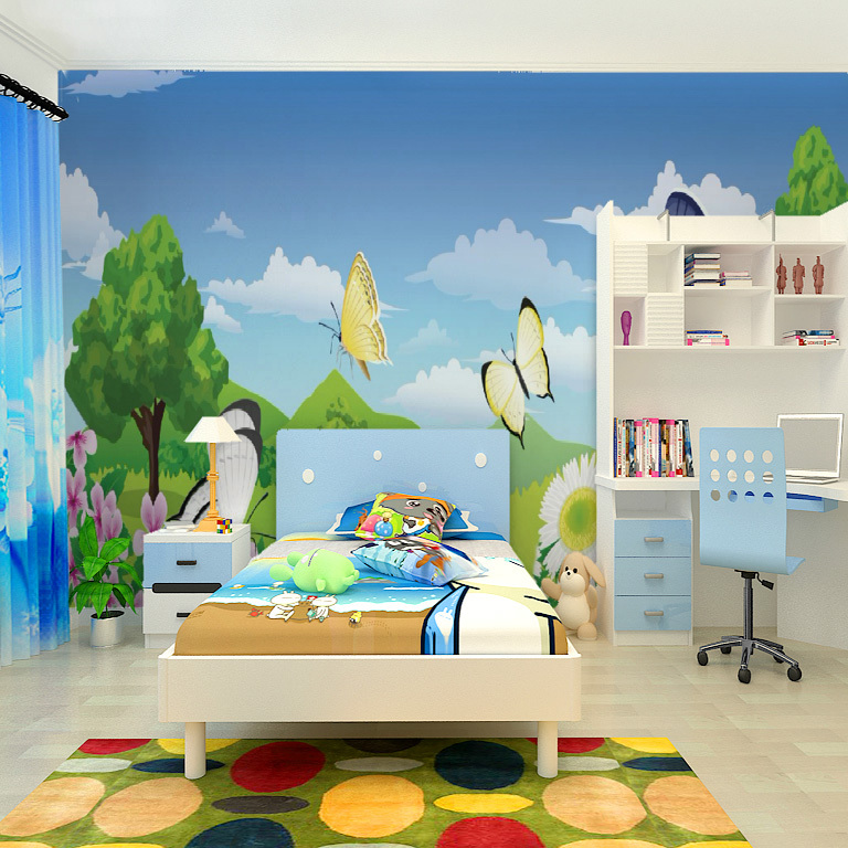 Free shipping large childlike cartoon seamless wallpaper for Children s mural wallpaper