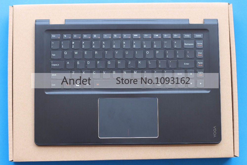 95 New Original Lenovo Yoga 3 14 Palmrest Upper Case US Keyboard with Backlit Bezel Touchpad