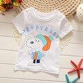 Детская одежда t-shrit Новый Летний 1-4Y Детские Дети печать Футболки Мальчики футболка Хлопок Топы Спорт Тис Девушки футболки