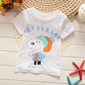 Kids clothes t-shrit New Summer 1-4Y Baby Children print T-shirts Boys tshirt Cotton Tops Sports Tees Girls t-shirts