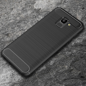 For Samsung Galaxy A6 2018 Case Silicon Heavy Shockproof Carbon Fiber Soft Silicone Case For Samsung Galaxy A6 Plus 2018 Cover