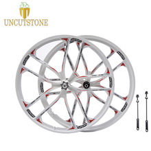 цена на white mountain bike wheel 27.5  26 Cassette 7/8/9/10 Speeds magnesium alloy bike wheel  Mountain Bicycle Wheelrim