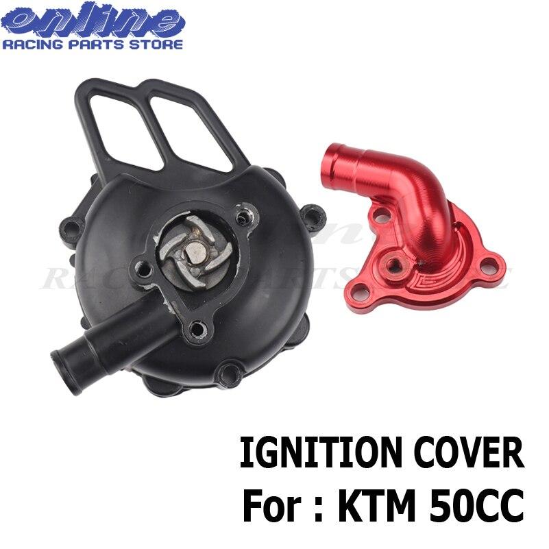 Couvercle d'allumage de moto pour KTM 50 SX 2006-2008 refroidisseur d'eau moteur pompe essieu SX Pro JR LC 2002-05 SX PRO SR tuyau d'admission de CNC