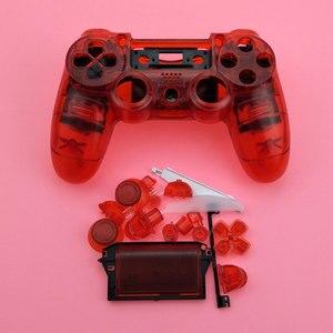 Image 3 - YuXi Sony Playstation 4 Için PS4 Dualshock 4 Eski Sürüm Gamepad Denetleyici Şeffaf Temizle Ön Arka Konut Shell Kılıf Kapak