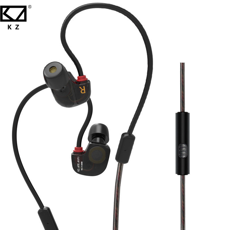 New Arrival KZ ATE S In-ear Earphone Noise Canceling Hifi Stereo Sport Earphones Super Bass Best  With Mic new headphones original kz ate s fone de ouvido hifi kz ate s stereo sport auriculares super bass noise canceling headphones