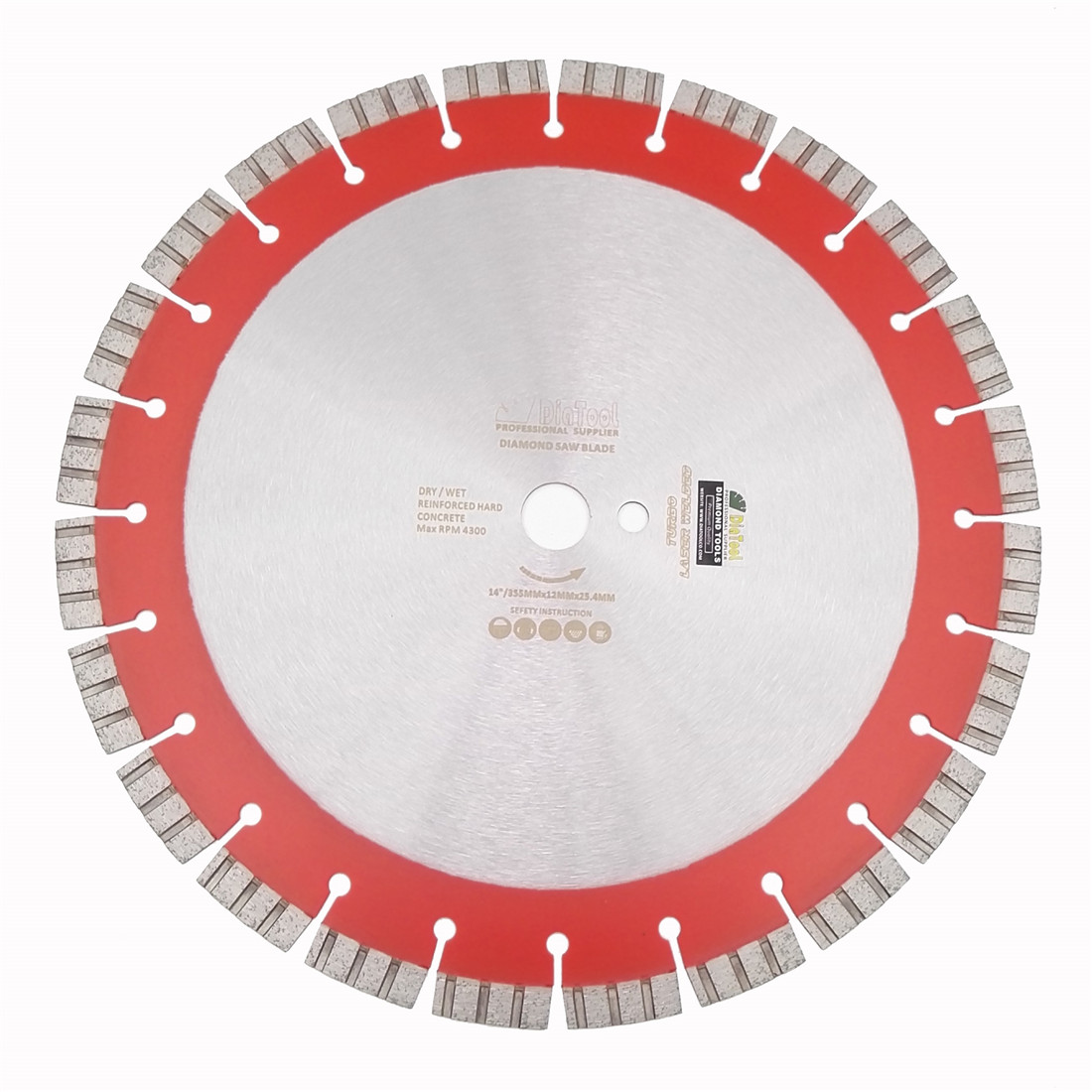 цена на DIATOOL 14 Professional Laser welded High Turbo segments Diamond Saw Blade Cutting Reinforced concrete Disc Diamond Wheel