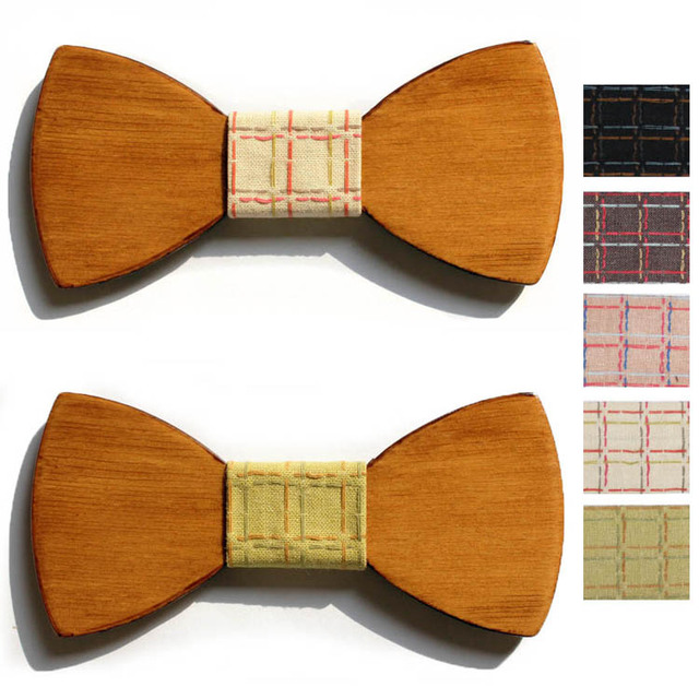 2016 женские случайные галстук-бабочка человек свадьба дерево боути дизайнер свадебная галстук женщины плед деревянные галстуки мужской papillon галстук