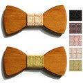 2016 female casual bow tie man wedding wood bowtie designer mariage necktie women plaid wooden neckwear male papillon neck tie