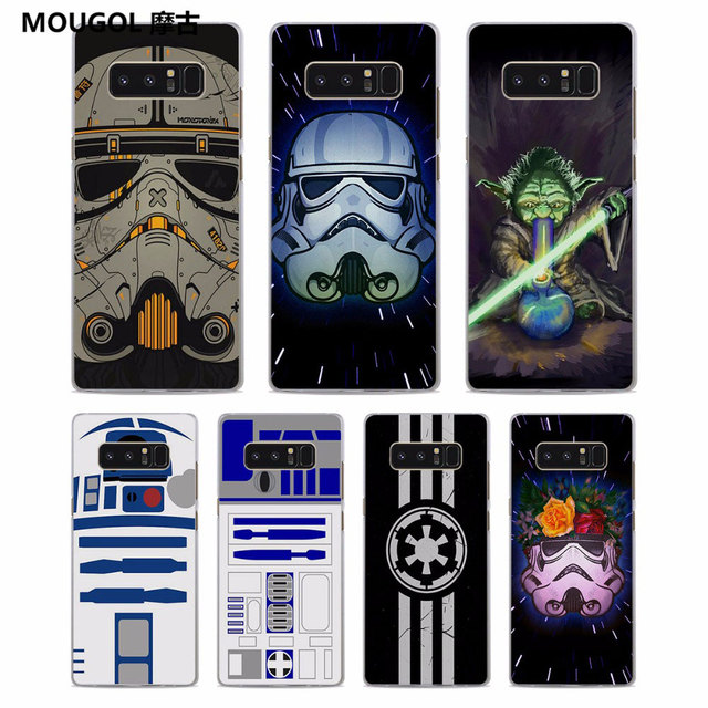 purchase cheap 1a00b 16e67 MOUGOL Star wars darth vader Pattern Clear hard Phone Case Cover for  Samsung Galaxy Note8 Note5 S8 S8Plus S6 S7 edge S5-in Half-wrapped Case  from ...