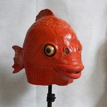 Hot Selling Halloween Cosplay Popular Animals Latex Full Head Fish Mask