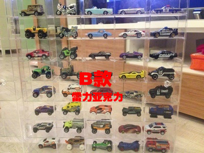 Acrylic Cars Display Cabinet Dume Tomy Card Transparent Open The Door  Storage Box Car Cabinet