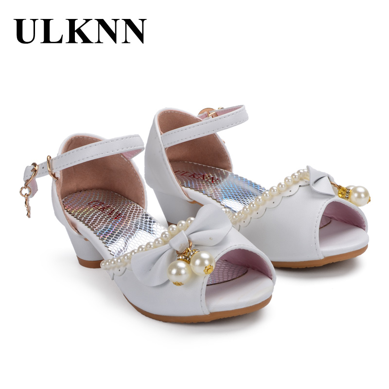 081101d67c US $12.97 39% OFF|ULKNN Enfants Children Sandals Kids Girls Wedding Shoes  Dress Party Pearl Shoes For Baby Girls Soft Leather Princess Sandals-in ...