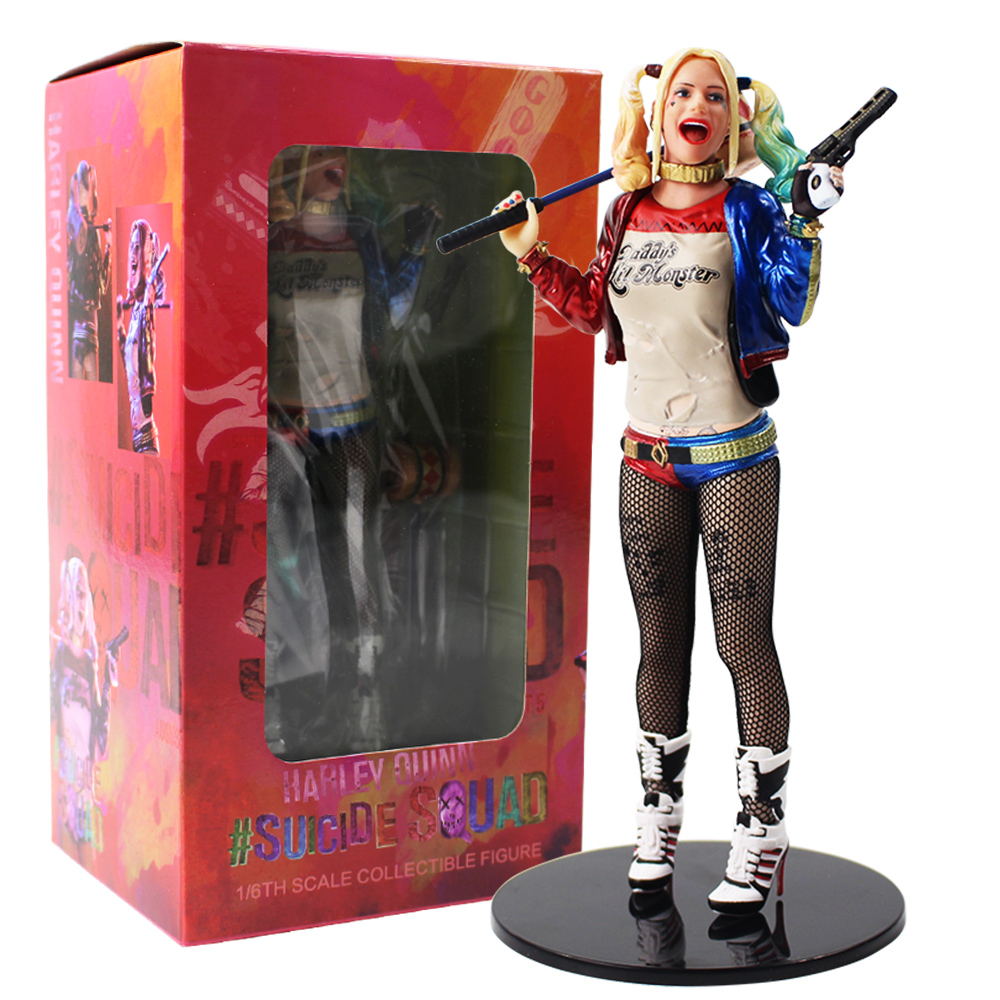 18cm Suicide Squad Harley Quinn 1/6th Scale PVC Action Figure Collectible Moodel Toy Doll Gift