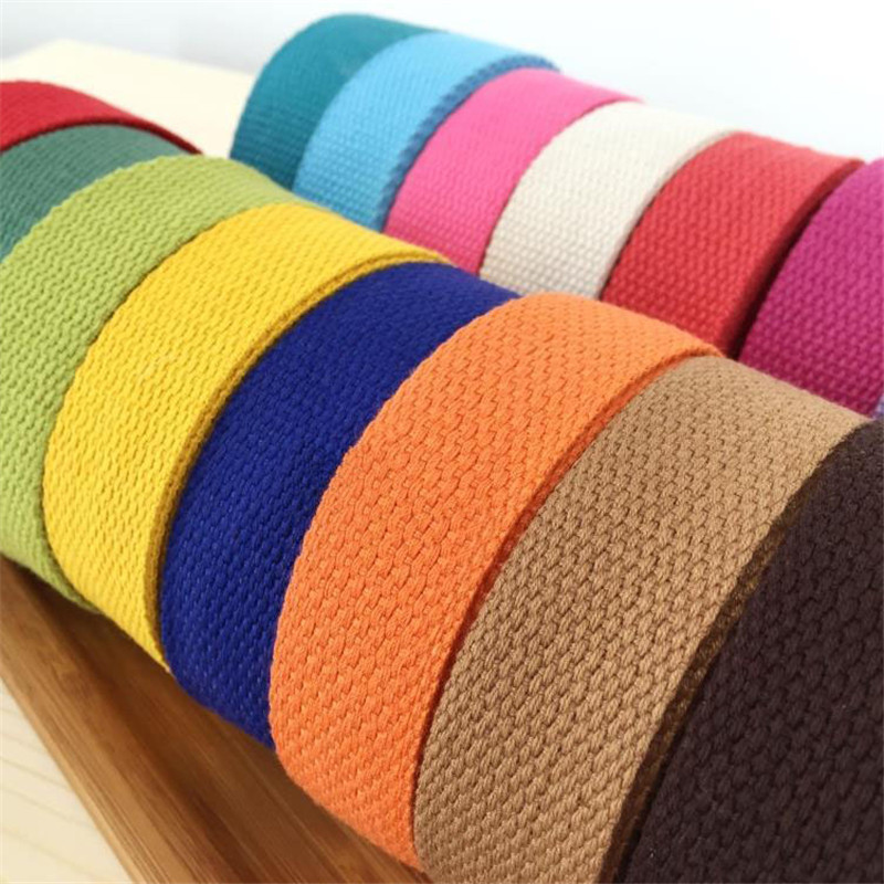 25mm Diy Candy Color Knitted Ribbons Belt Canvas Bag Webbing, Bag Luggage Ribbons,Wholesale Price
