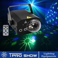 Mini Laser Projector RGB LED Magic Light Disco Ball Projector Lazer 2 in 1 for Party Lights DJ Home Disco