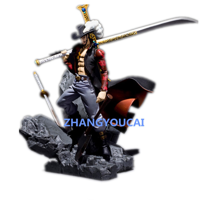 "One Piece Monkey D Luffy Shichibukai Dracule Mihawk Action Figure Toys Figuarts 15 cm 6.3"" PVC Dolls Original RETAIL BOX zy016"