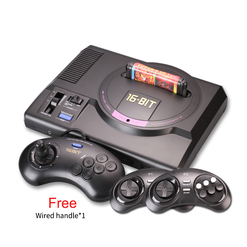 Hot HDMI 16 bit  Video Game Console SEGA MEGA DRIVE 1 Genesis High definition HDMI TV Out with 2.4G wireless controlle cartridge sega